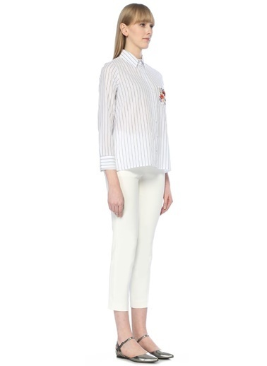 Beymen Club Çizgili Gömlek Beyaz